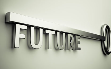 3d render of the key with future text